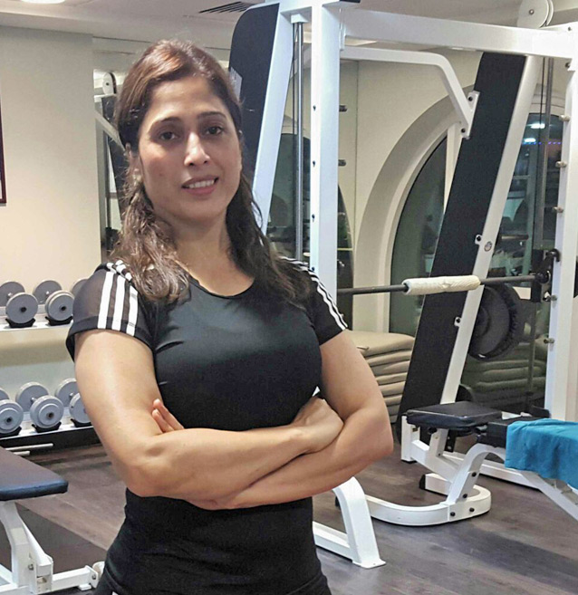 At home female personal trainer in sharjah