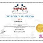 Amman Coach Amira PT REPS Certificate