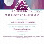 Exercise during pregnancy certification - Muscat female personal trainer Amira