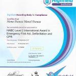 Hema Yoga Dubai - Certificate