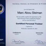 MMA Personal Trainer in Dubai - Marc - Training Certificate