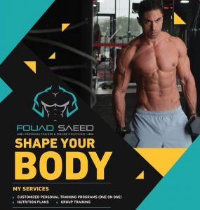 Manama - Bahrain - Personal Trainer Fouad - online fitness coaching leaflet