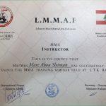 Marc - Jiu Jitsu Coach In Dubai - Training Certificate