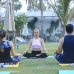 Outdoor Group Yoga Classes In Dubai With Marina