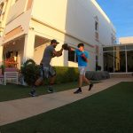 At home boxing coaching for kids in Dubai with coach Nader