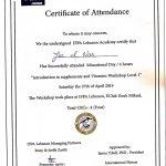 IFPA Certificate - Joe