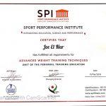SPI Certificate - Joe