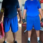Client before and after images - weight loss with PT Lina in Dubai