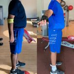Client body toning before and after images - Dubai Fitness Coach Lina