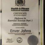 Enver Johns - Dubai Personal Trainer Certificate