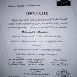 Sharjah PT Mo - Training Certificate