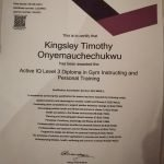 Dubai PT Kingsley - Personal Training Certificate 2