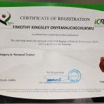 Dubai PT Kingsley - Personal Training Certificate
